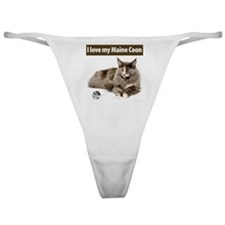 Maine Coon Cat Classic Thong