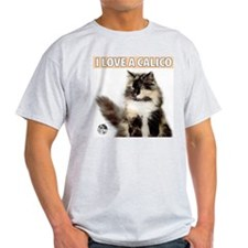Calico Cat Ash Grey T-Shirt