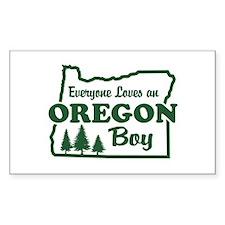 Everyone Loves an Oregon Boy Rectangle Decal