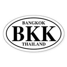 BKK Bangkok Oval Decal