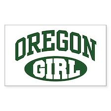 Oregon Girl Rectangle Decal