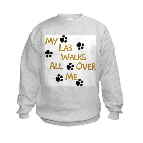 Walking Labrador Kids Sweatshirt