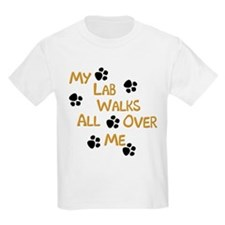 Walking Labrador Kids T-Shirt