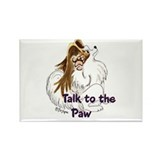 Talk to the Paw Rectangle Magnet (100 pack)