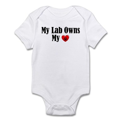 Lab Owns My Heart Infant Bodysuit