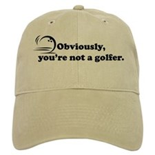 Obviously, not a golfer Baseball Cap