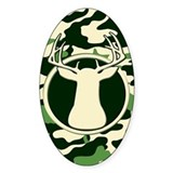 CAMO BUCK Oval Decal
