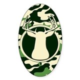 CAMO BUCK Oval Sticker (10 pk)