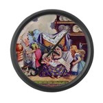 ALICE & THE DUCHESS Large Wall Clock