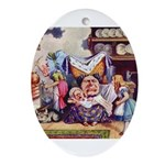 ALICE & THE DUCHESS Oval Ornament