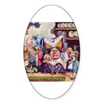 ALICE & THE DUCHESS Oval Sticker (10 pk)