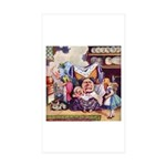 ALICE & THE DUCHESS Rectangle Sticker 10 pk)