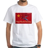 Shirt anti shark fin soup