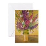 Golden Flowers Greeting Cards (Pk of 20)