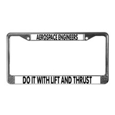 Cute Funny engineers License Plate Frame