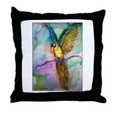 Blue Macaw, beautiful, Parrot, Throw Pillow