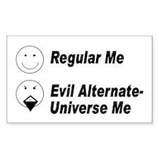 Evil Me Rectangle Sticker 10 pk)