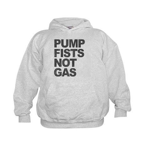 Pump Fists Not Gas Kids Hoodie