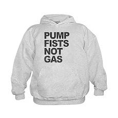 Pump Fists Not Gas Kids Hoodie