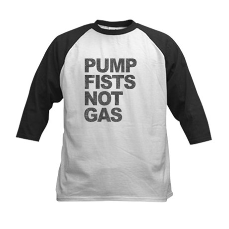 Pump Fists Not Gas Kids Baseball Jersey