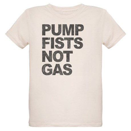 Pump Fists Not Gas Organic Kids T-Shirt