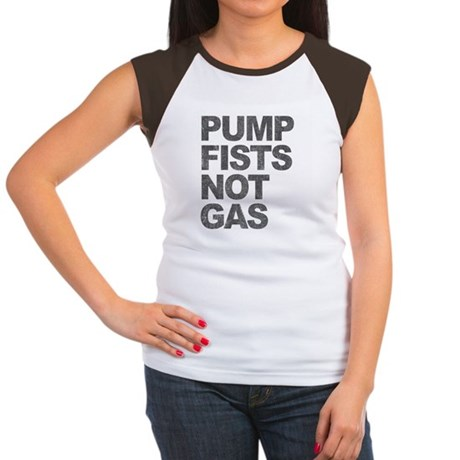 Pump Fists Not Gas Womens Cap Sleeve T-Shirt