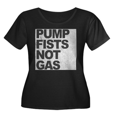 Pump Fists Not Gas Womens Plus Size Scoop Neck Da