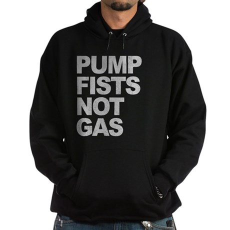 Pump Fists Not Gas Dark Hoodie