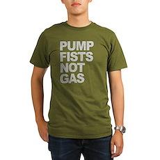 Pump Fists Not Gas Organic Mens Dark T-Shirt
