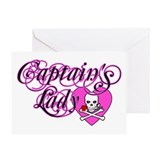 Valentine's Captain's Lady Greeting Card