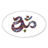 Artistic Om Oval Decal