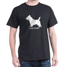 """Cairn Terrier"" - Black T-Shirt"