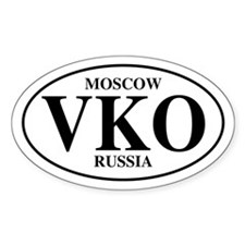 VKO Moscow Oval Decal