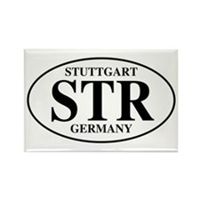 STR Stuttgart Rectangle Magnet