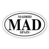 MAD Madrid Oval Decal