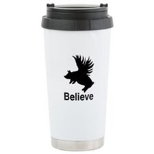 Flying Pig Ceramic Travel Mug
