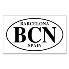 BCN Barcelona Rectangle Decal