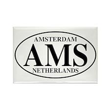 AMS Amsterdam Rectangle Magnet