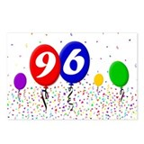 96th Birthday Postcards (Package of 8)