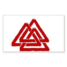 Valknut Rectangle Decal