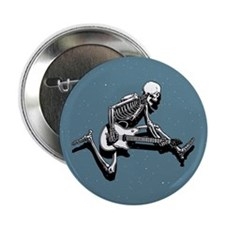 "Skeleton Guitarist Jump 2.25"" Button (10 pack)"
