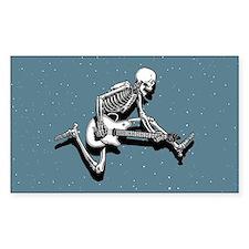 Skeleton Guitarist Jump Rectangle Decal