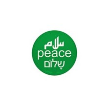 Peace Salaam Shalom Mini Button (10 pack)