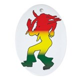 Dancing Rasta Oval Ornament