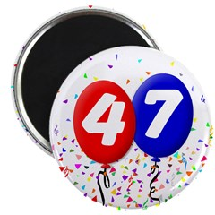 "47th Birthday 2.25"" Magnet (10 pack)"