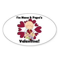 Nana and Papa's Valentine Oval Sticker (10 pk)