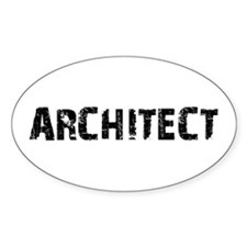 Architect Oval Decal