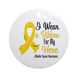Hero Bladder Cancer Ornament (Round)