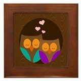 I love you owlways Framed Tile