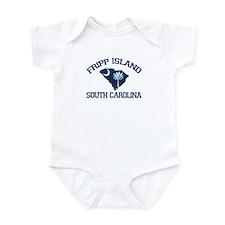 Fripp Island - Map Design Infant Bodysuit